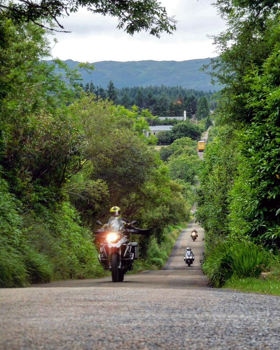 Ireland is just full of excellent small country lanes that are just made for motorcycles.