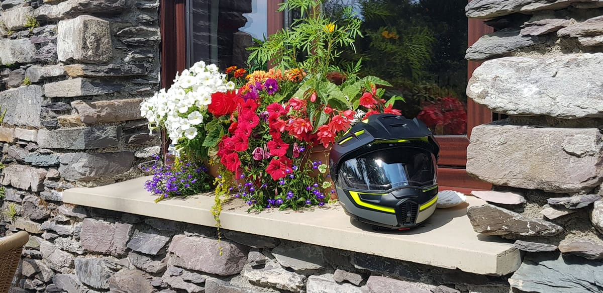 It's early summer in Ireland and everything is in full bloom. Even our helmets seem to be more colourful than usual.