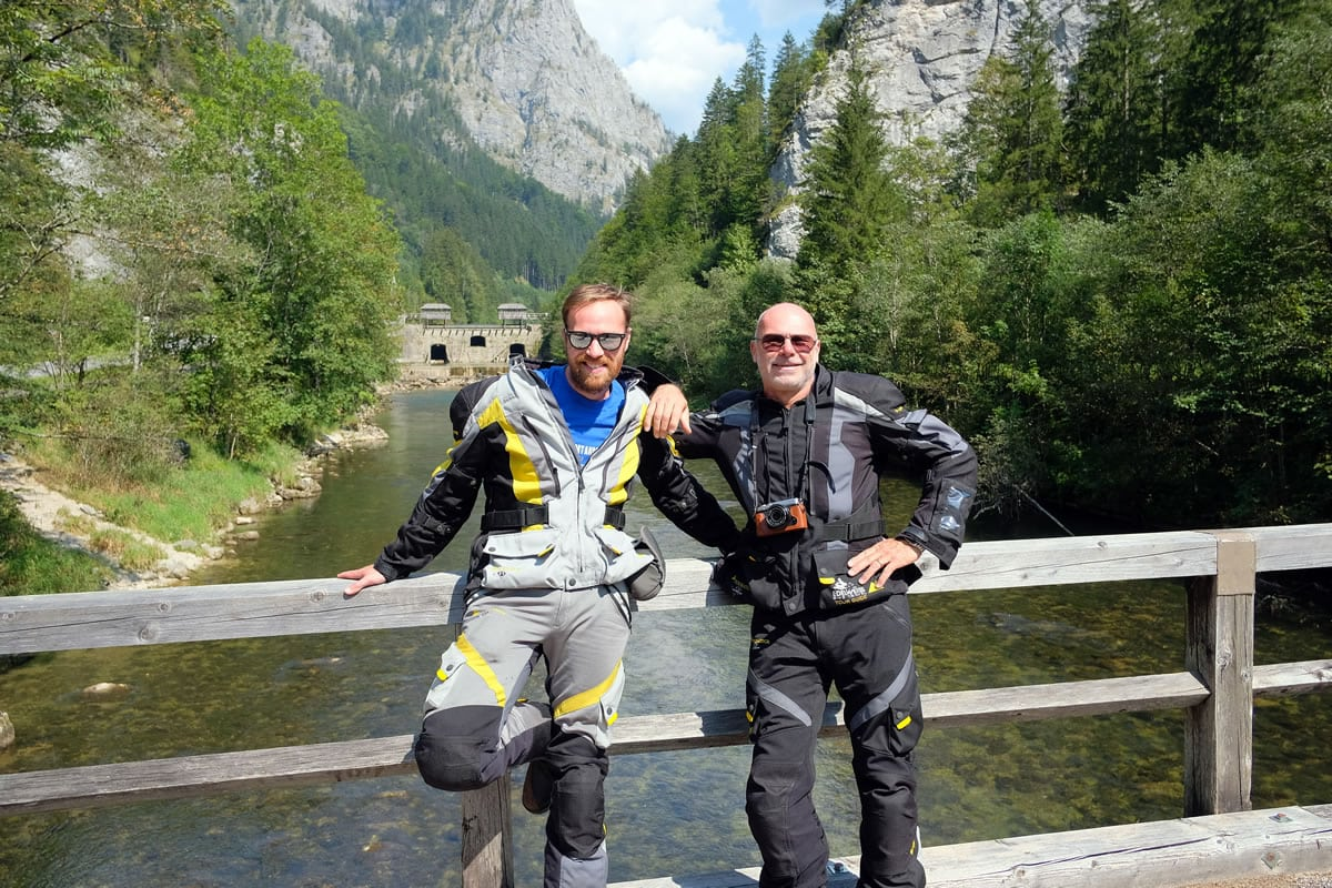 James Ashton and Dieter Arnoth, tour guides for Edelweiss Bike Travel, in Austria's Gesäuse National Park