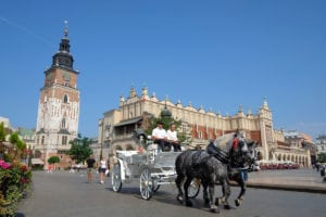 Krakow's beautiful town square