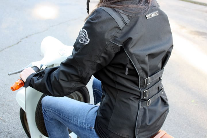 Ladies Motorcycle Jacket Review - Back