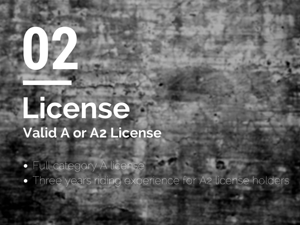 License - You Must Hold a Valid A or A2 License to Be a Motorcycle Training Instructor in the UK