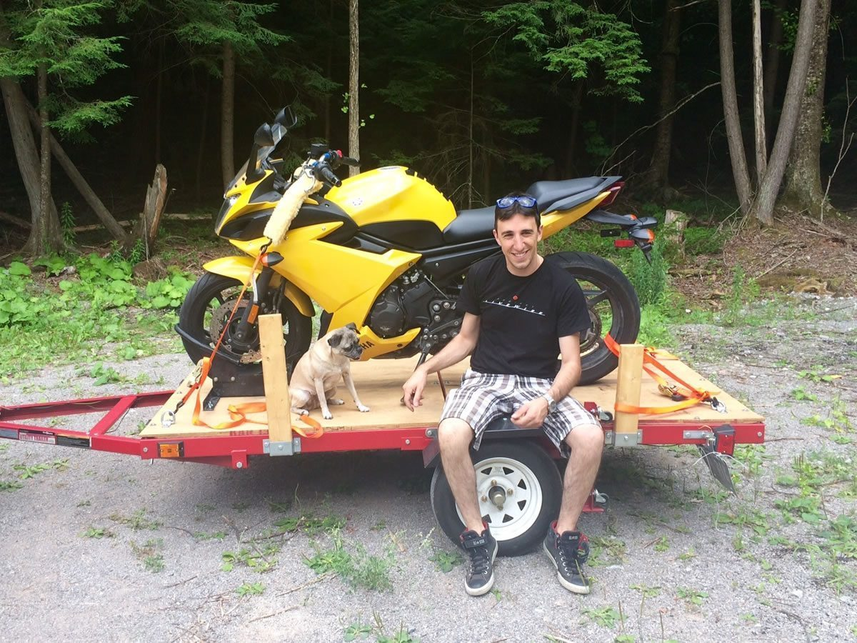 Miley and Adrian and the FZ6R
