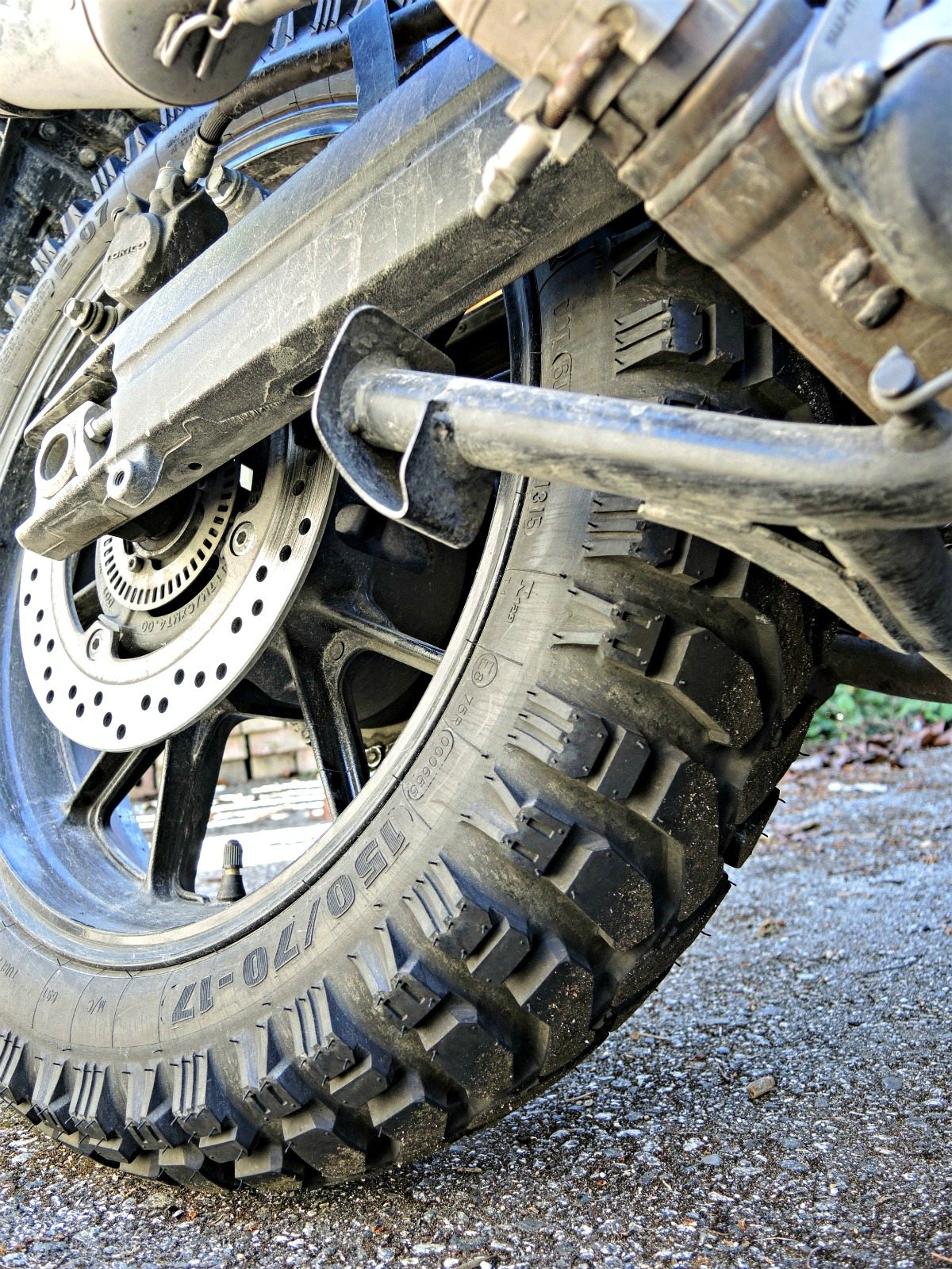 Mitas E-07 Dakar Review - VStrom Tire Shot