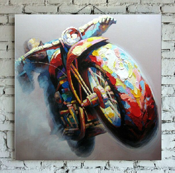Motorcycle Dream Oil Painting