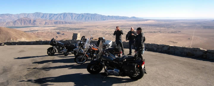Motorcycle Group Ride Desert
