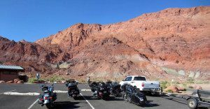 Motorcycle Group Ride Parking Lot