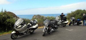 Motorcycle Group Ride Side of Road