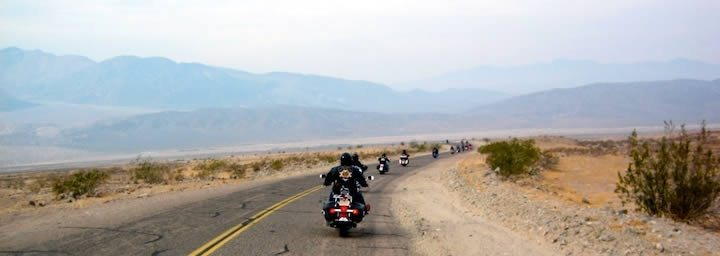Motorcycle Group Ride in Death Valley