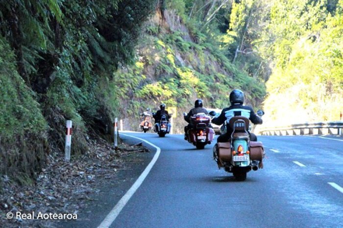 Motorcycle Group Ride in New Zealand