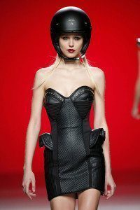 Motorcycle Helmet Runway Model