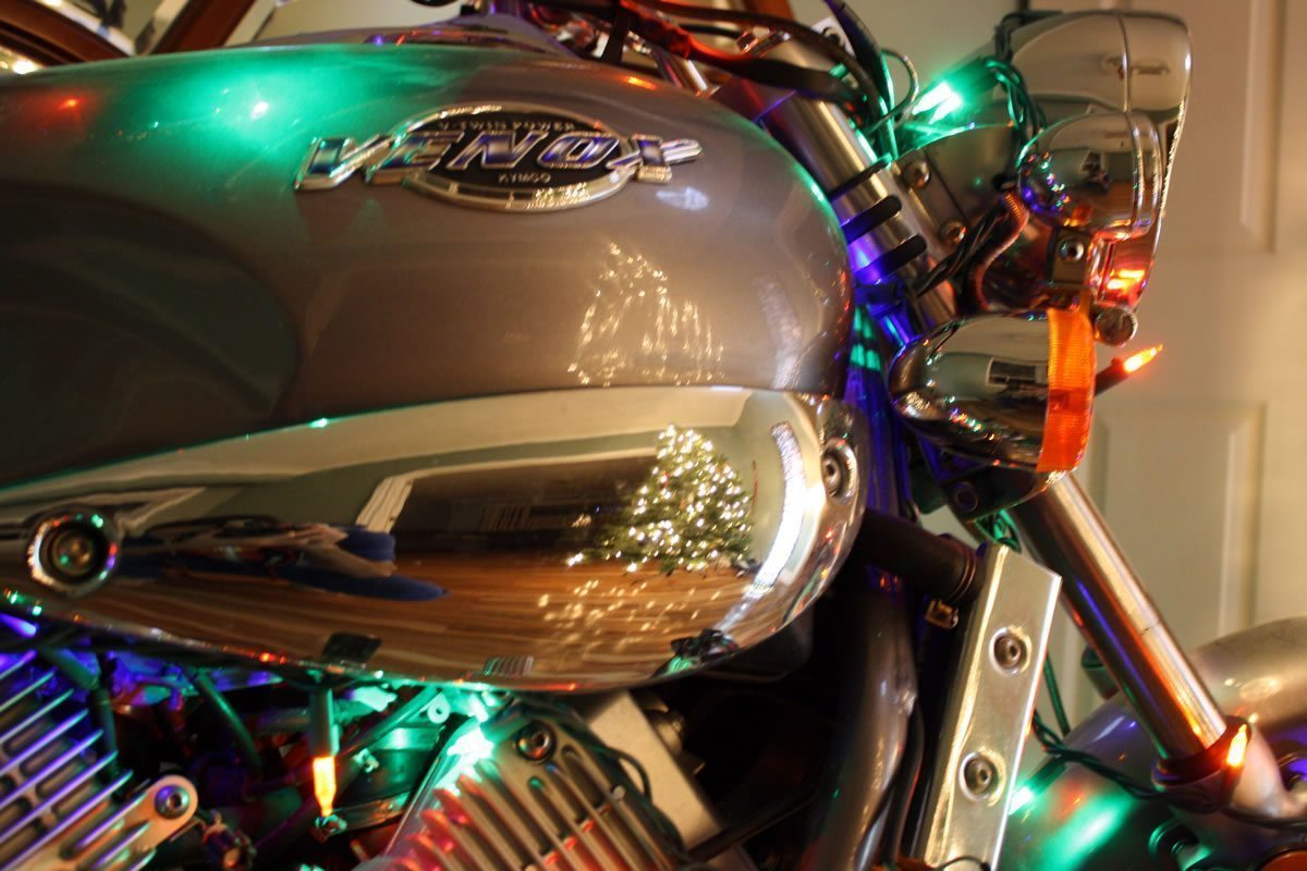 Motorcycle Inside the Living Room