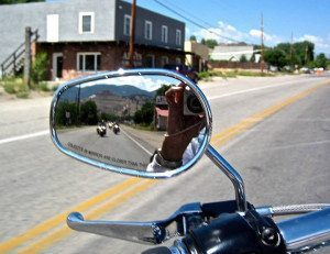 Motorcycle Mirror Riding Pic