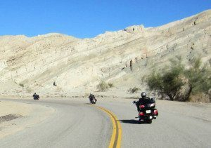 Motorcycle Riding Mountains Around Salton Sea