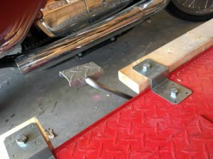 Motorcycle Table Lift Extensions - Z-Shaped deck joist ties