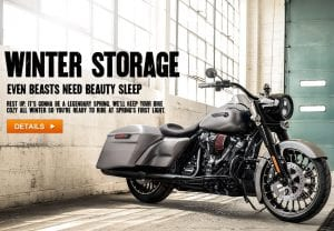 Motorcycle Towing Toronto winter storage with free pick-up and drop-off