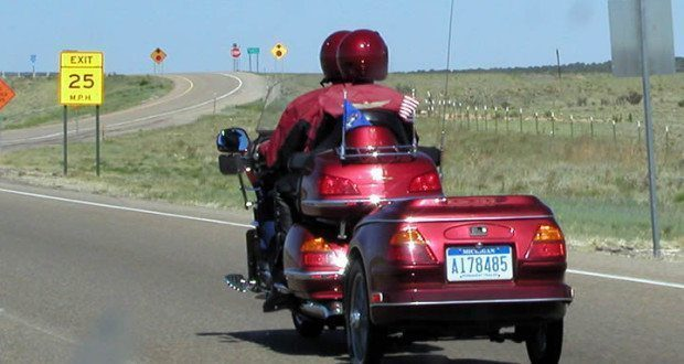 Motorcycle Trailer Couple