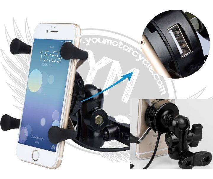 Kick-Ass Cell Phone Mount and USB Charger