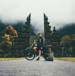 Motorcycle ride in Bali Indonesia