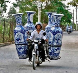 Motorcyclist with Ceramics