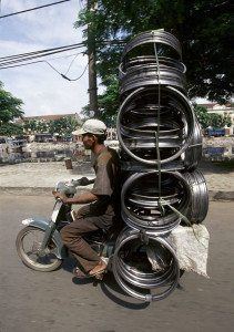 Motorcyclist with Rims