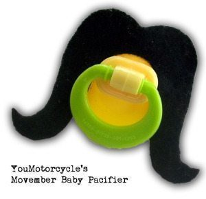 Movember Baby Pacifier