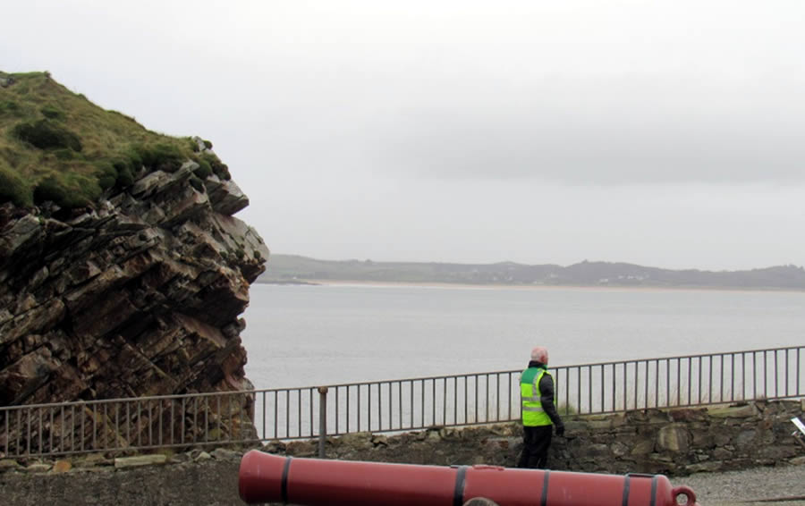 Pat taking in the view from Fort Dunree