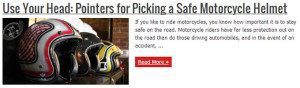 Picking a Safe Motorcycle Helmet