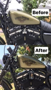 Sportster Ignition Switch and Coils Relocation Before and After