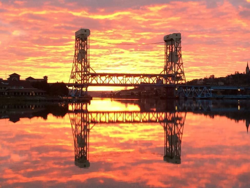 Sunset at the Portage Lift Bridge