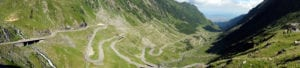 The switchbacks of the Transfagarasan