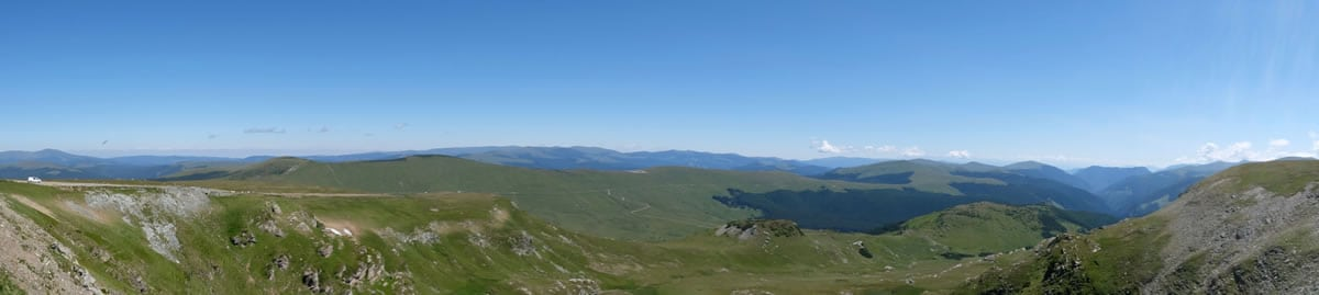 The view from the summit, 2,145m above sea level