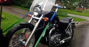 Towing a Suzuki Boulevard S40 Motorcycle in Toronto