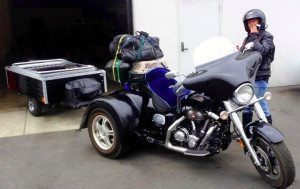 Trike with Camping Trailer in Tow