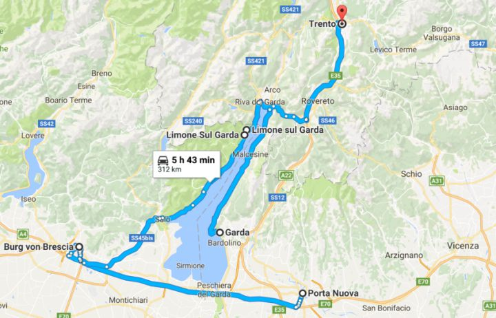 Verona to Trento motorcycle ride