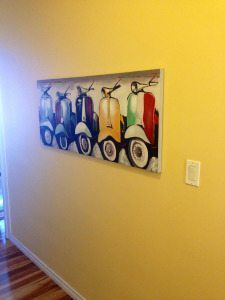 Vespa Painting in my Hallway