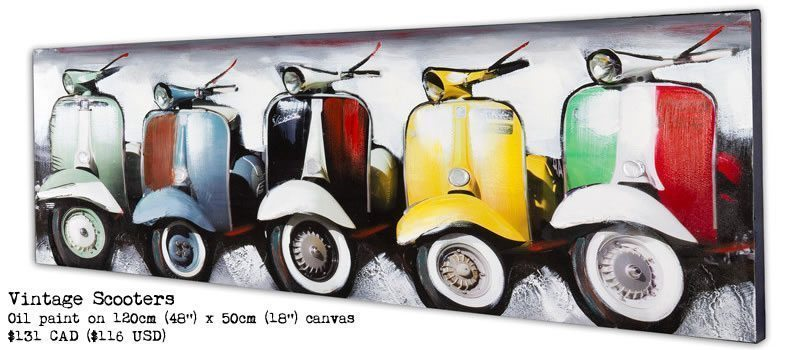 Vintage Scooters Painting