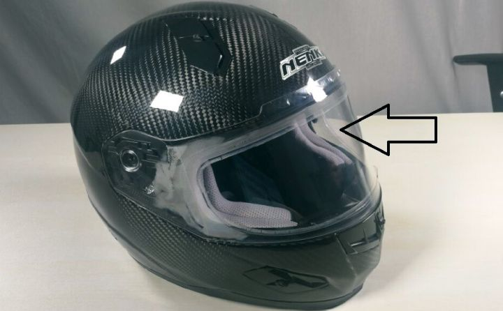 WeePro Anti-Fog Visor Insert Installed 2
