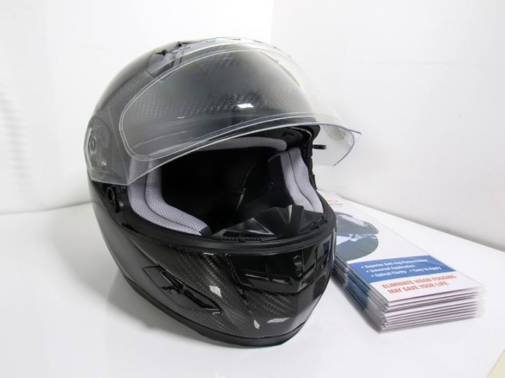 WeePro Anti-Fog Visor Insert Installed