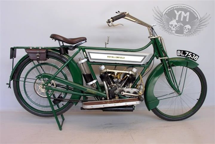 World War 1 Royal Enfield Motorcycle
