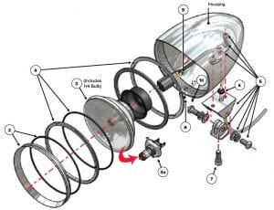 Headlight exploded view