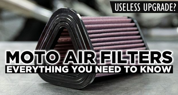 how do motorcycle air filters work