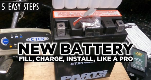 how to fill charge replace a motorcycle battery