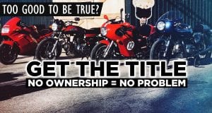 how to get the ownership of a motorcycle with no ownership