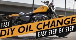 how to harley-davidson sportster oil change