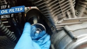 install new sportster oil filter during an oil change