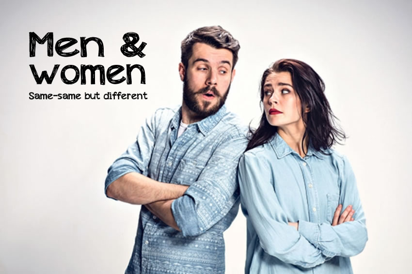 men and women - same same but different