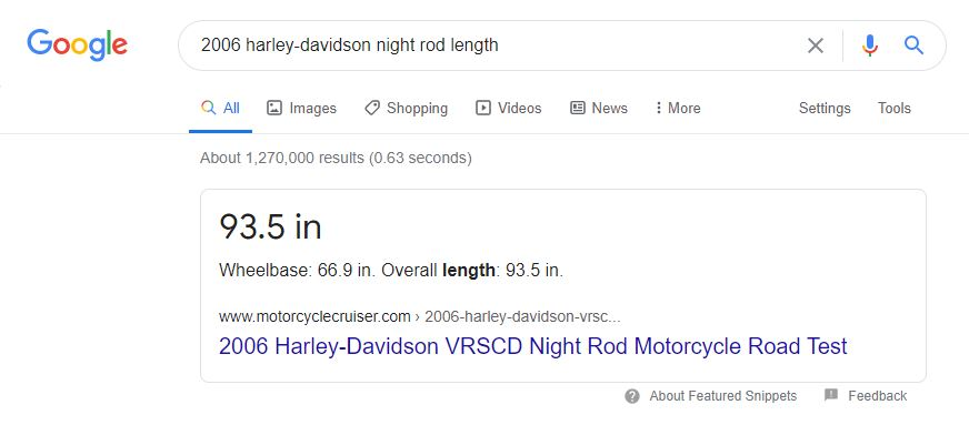 motorcycle length google search