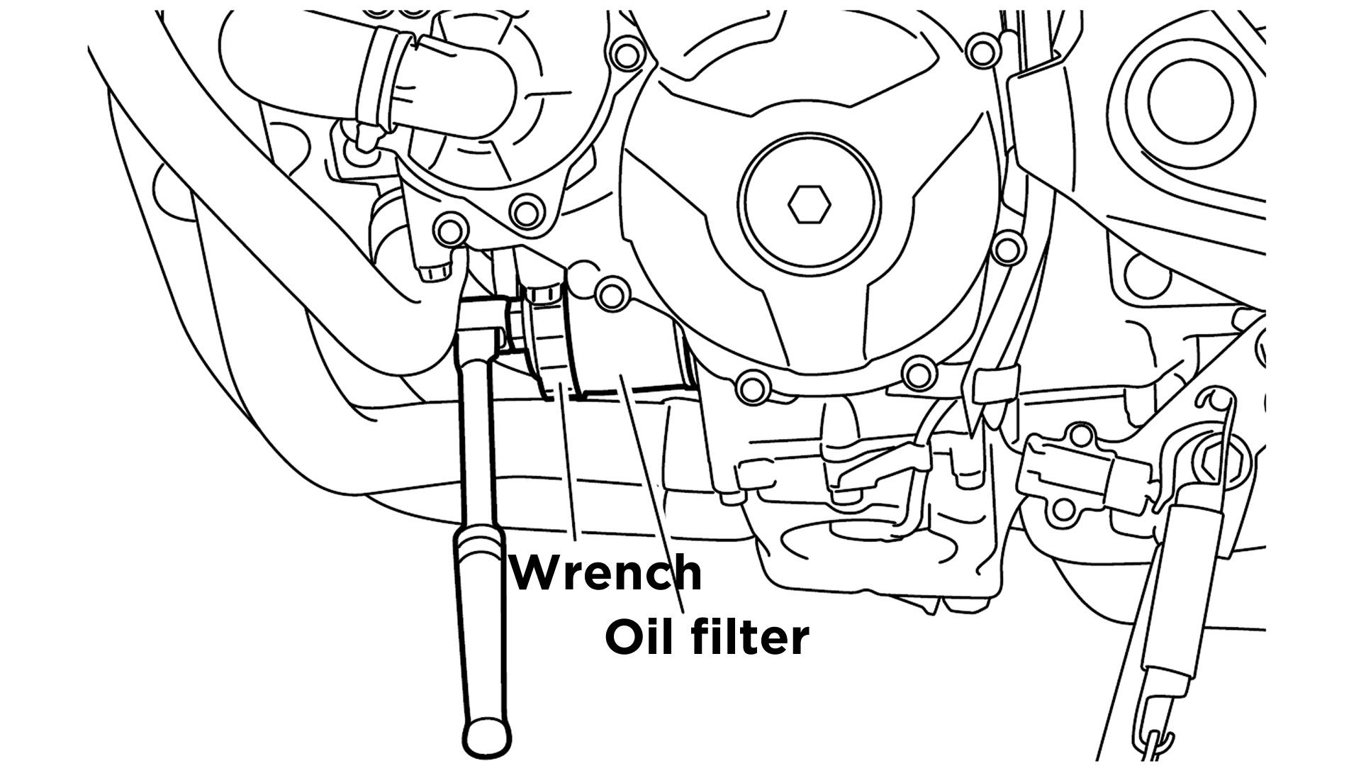 Step 3) Remove the oil filter