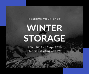 Studio Cycle winter storage